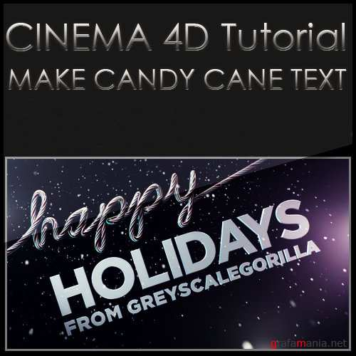 Candy Cane Text Animation In Cinema 4D