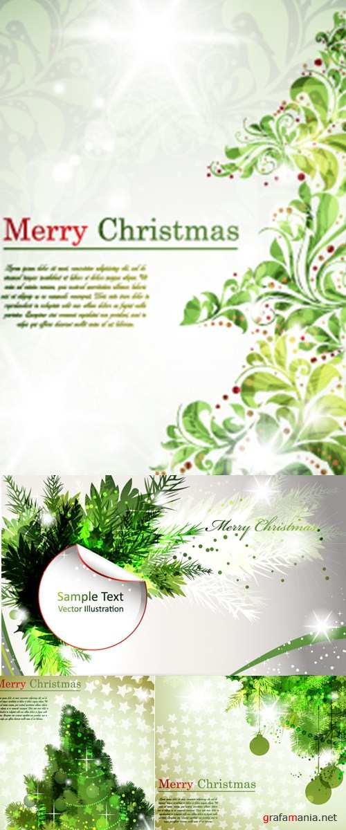 Green christmas backgrounds
