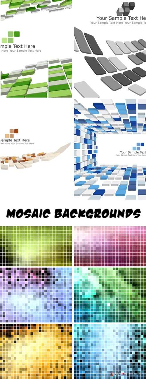 Mosaic color backgrounds