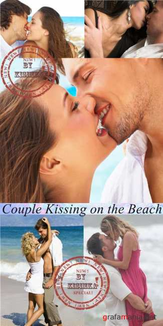 Stock Photo: Couple Kissing on the Beach