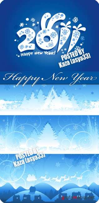 2011 blue New Year banner