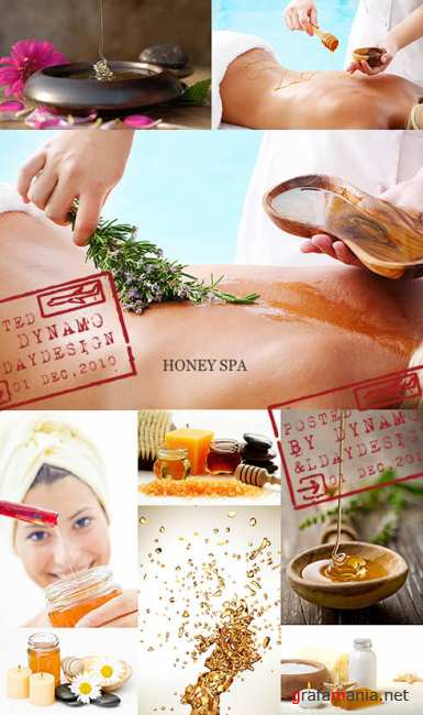 Stock Photo - Honey spa