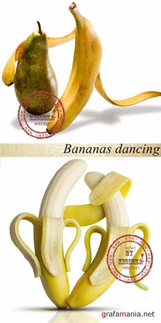 Stock Photo: Bananas dancing