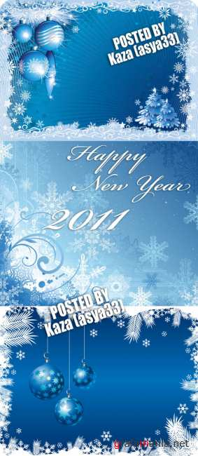 Blue New Year backgrounds 5