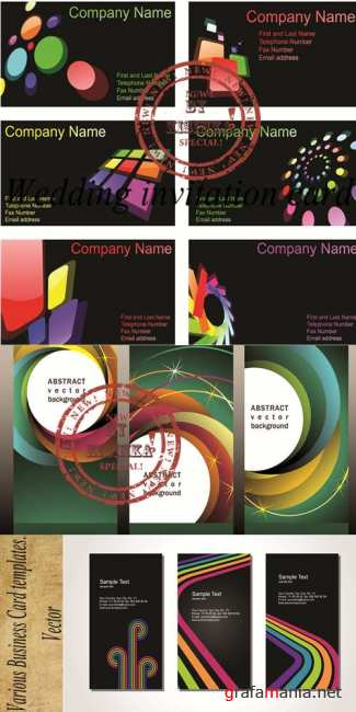 Stock: Various Business Card templates. Vector