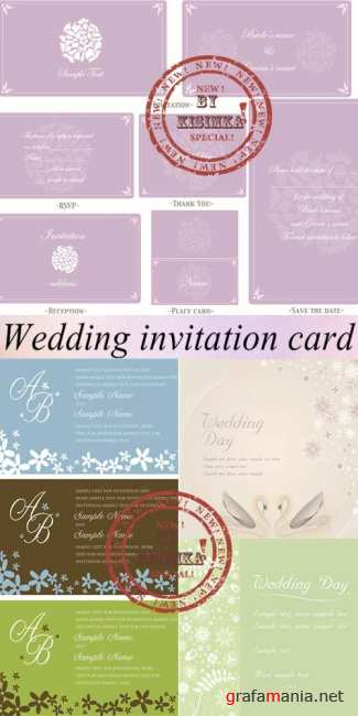 Stock: Wedding invitation card