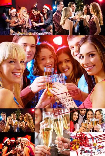 Stock Photo - Xmas and New year party