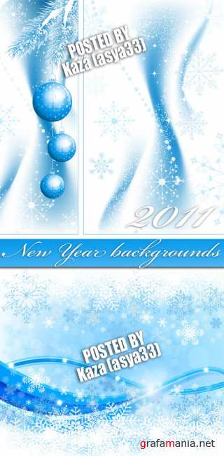 Blue New Year banners
