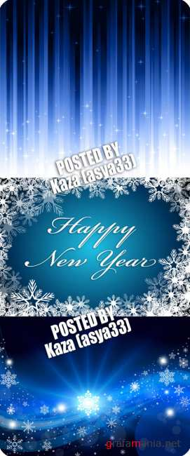 Blue New Year backgrounds 6