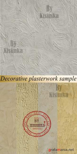 Stock Photo: Decorative plasterwork sample