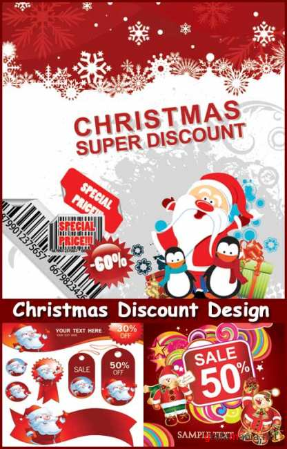 Christmas Discount Design - Stock Vectors
