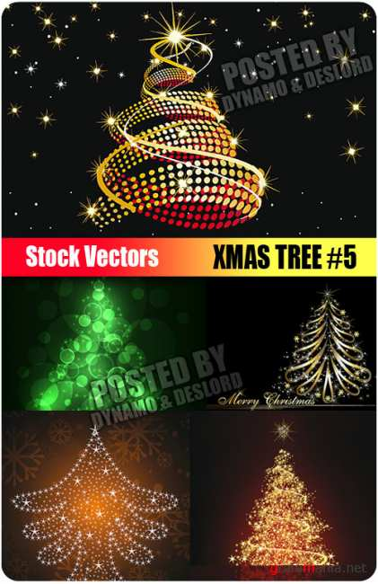 Stock Vectors - Xmas Tree #5