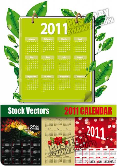 Stock Vectors - 2011 Calendar and grid