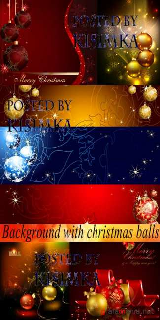 Stock: Background with christmas balls
