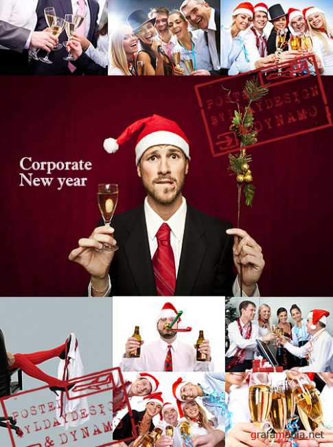 Stock Photo - Corporate celebration of the New Year eve