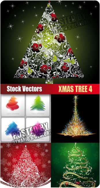 Stock Vectors - Xmas Tree 4