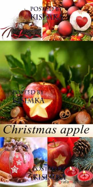 Stock Photo: Christmas apple