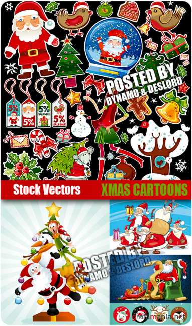 Stock Vectors - Xmas Cartoons