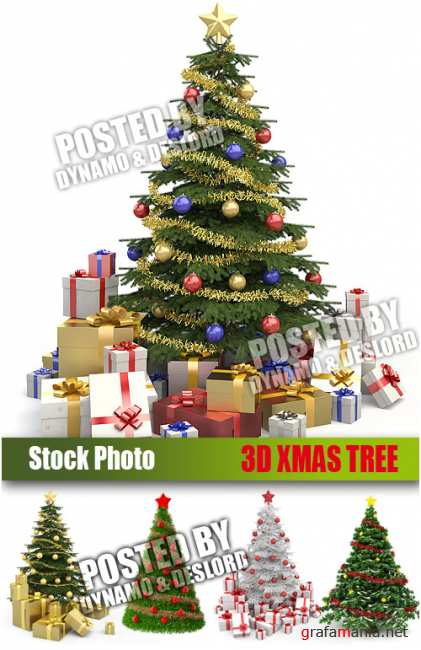 UHQ Stock Photo - 3D Xmas Tree