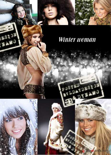 Stock Photo - Winter woman in Russian style