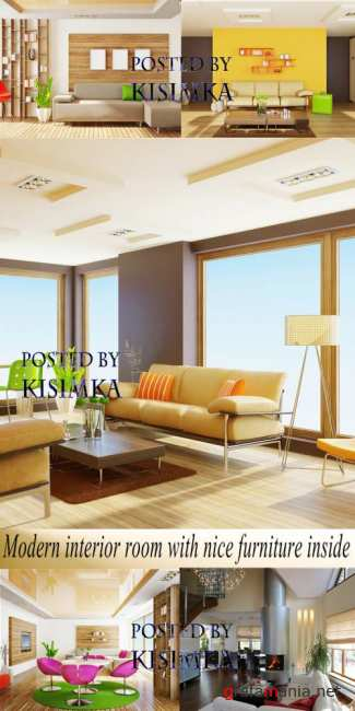 Stock Photo: Modern interior room with nice furniture inside