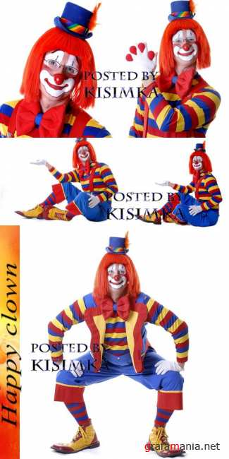 Stock Photo: Happy clown