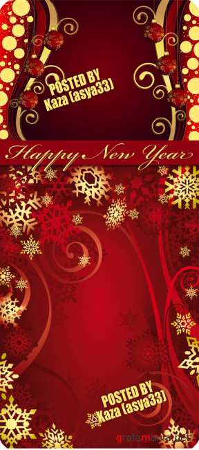 Red New Year backgrounds