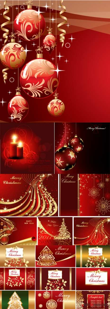 RED CHRISTMAS BACKGROUNDS 2