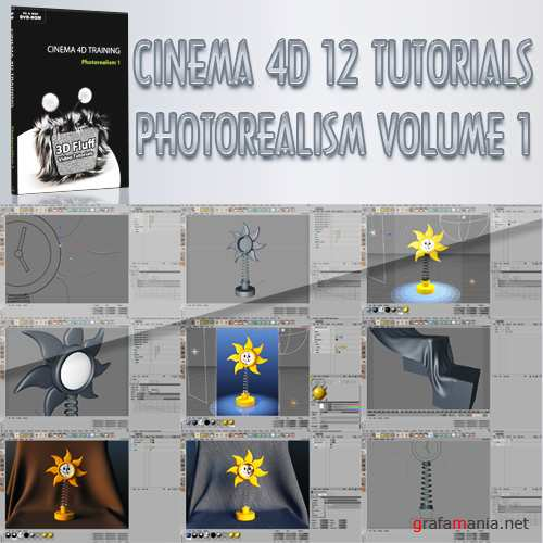 3D Fluff - Photorealism Volume 1 – Training for CINEMA 4D R12 (2010, ENG)