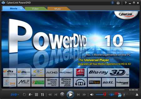 Cyberlink PowerDVD 10 Mark II Ultra Max 10 build 2429.51 Full by Birungueta Portable (RUS/2011)