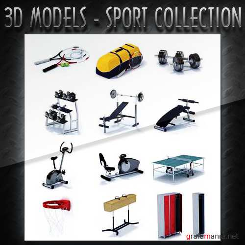 3D Models - Sport Collection with Gym and Fitness Accessories