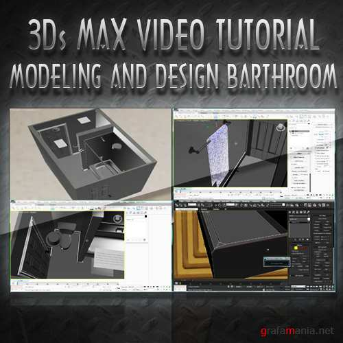 3ds Max tutorial - Interior Architectural Design Bathroom