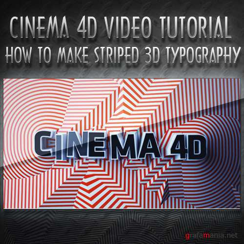 How to make Striped 3D Typography in Cinema 4D