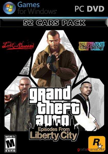 GTA 4 Episodes from Liberty City 52 Cars Pack (2011/PC/ENG/ADDON)