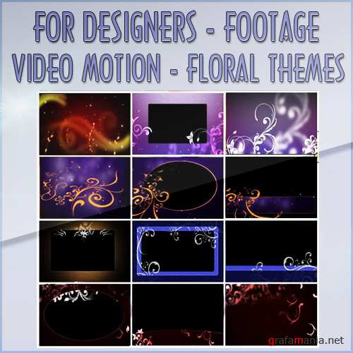 Футажи - Video Motion Floral Themes (FULL HD)