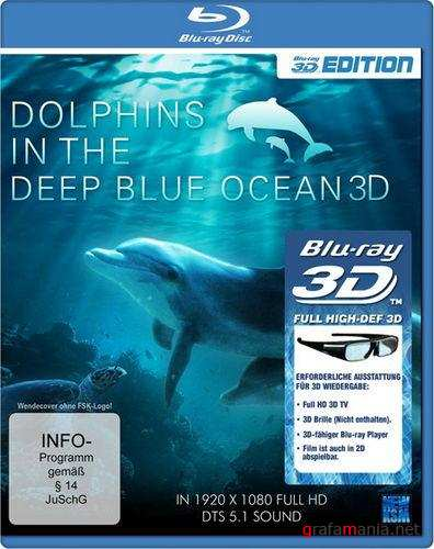 Dolphins in the Deep Blue Ocean (2009) Blu-ray 3D Disc