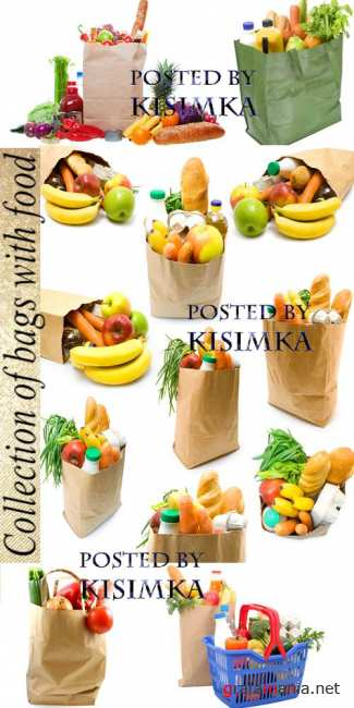 Stock Photo: Collection of bags with food