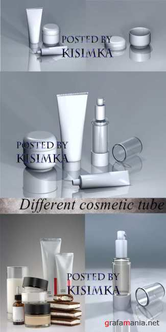 Stock Photo: Different cosmetic tube