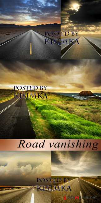 Stock Photo: Road vanishing
