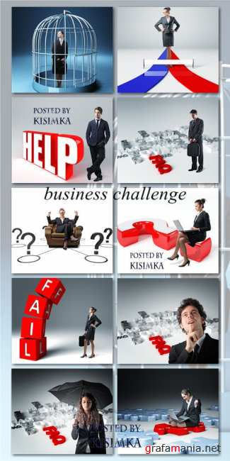 Stock Photo: Business challenge