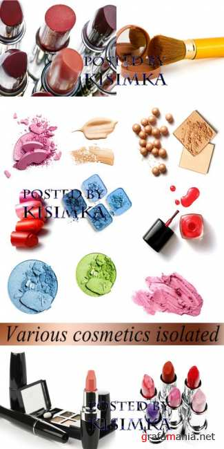 Stock Photo: Various cosmetics isolated