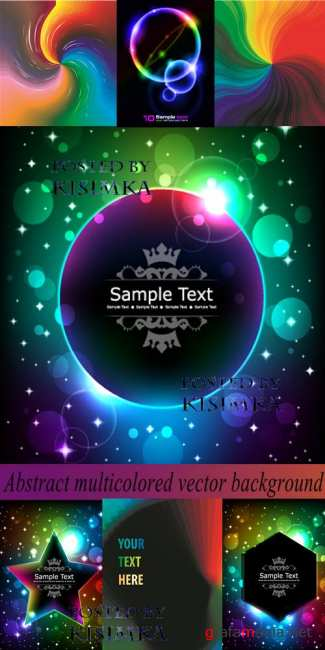 Stock: Abstract multicolored vector background