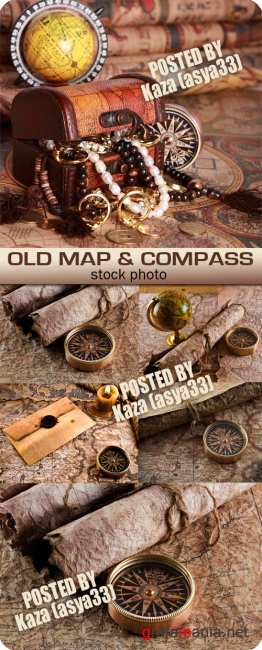 Old map & compass