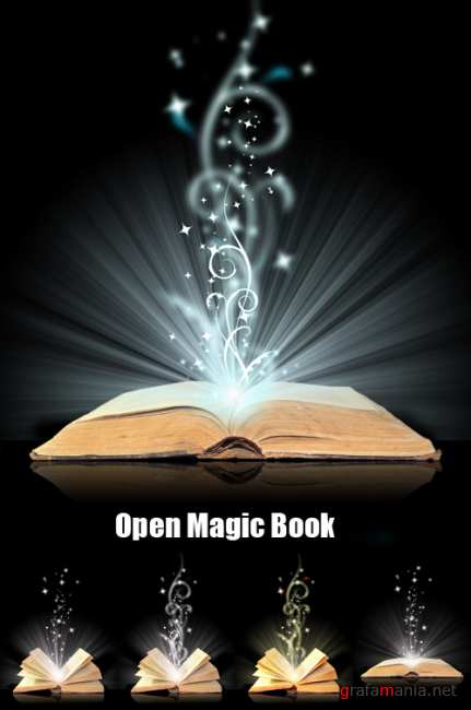 Stock Photos - Open Magic Book