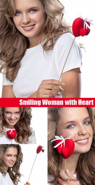 Stock Photos - Smiling Woman with Heart