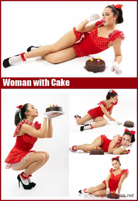 Stock Photos - Woman with Cake