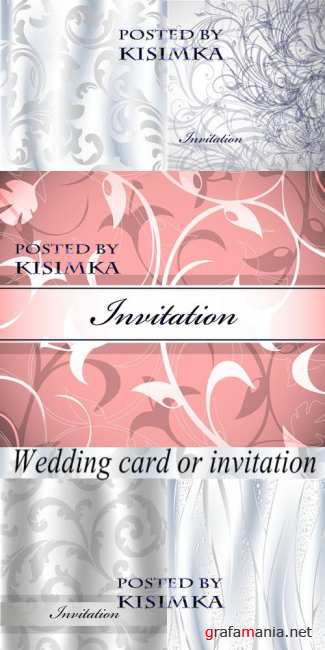 Stock Photo: Wedding card or invitation