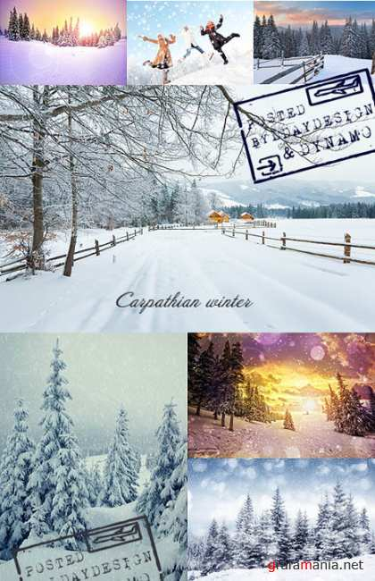Stock Photo - Winter in Carpathian mountains