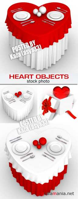 Valentine heart objects
