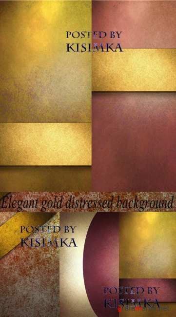 Stock Photo: Elegant gold distressed background with texture